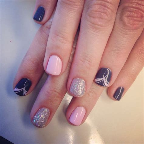 easy nail art gel simple but cute gel polish design minus the ring fingers