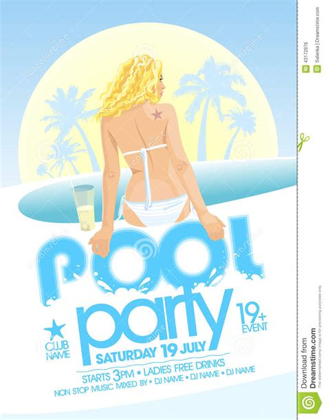 pool party design stock vector image 43172976