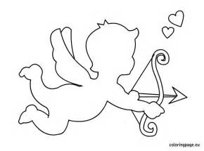 cupid coloring pages cupid template printable coloring page