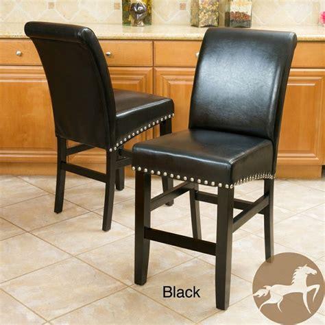 christopher bar stools overstock christopher home lisette leather counter stool set