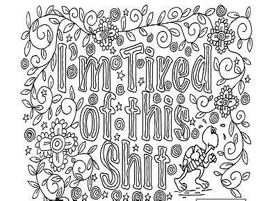 coloring book publishers - Adult Coloring Book Swear Words Design ...