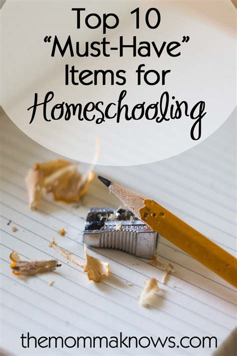 must have household items top 10 must have items for homeschooling