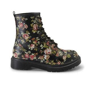 bongo junior s oz black floral chunky combat boot