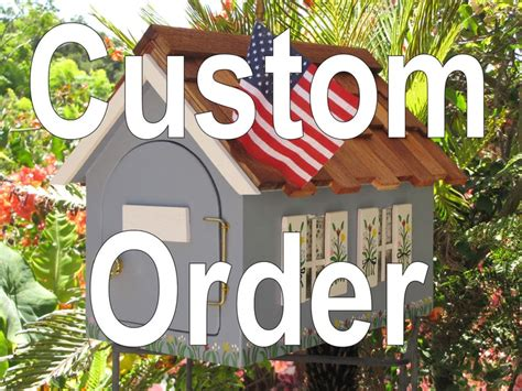 Handcrafted Mailboxes - handcrafted custom painted cottage mailbox mailbox ideas