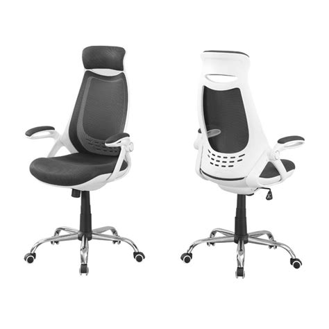 adjustable high back office chair in white and gray i 7269
