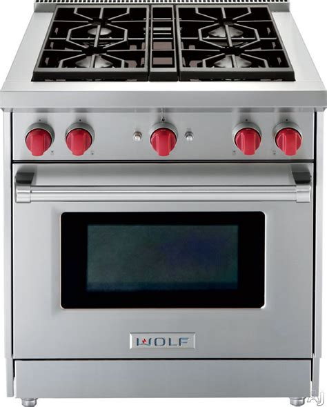 Wolf Range Knobs by Wolf Gr304lp 30 Quot Pro Style Gas Range With 4 Dual Stacked