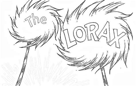 lorax coloring pages truffula trees coloringstar