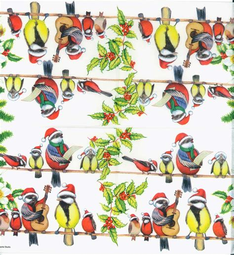 Bird Decoupage Paper - decoupage paper napkins of caroling birds
