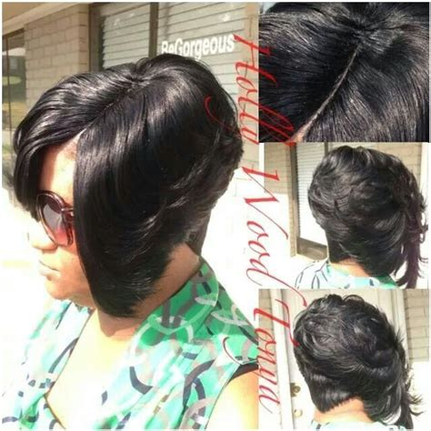 27 piece hair style short on top long in the back tutorial 27 piece short hairstyles for black women