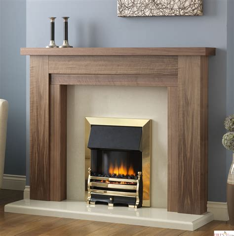 A In A Fireplace by Pureglow Hanley Walnut Fireplace Surround Surrounds
