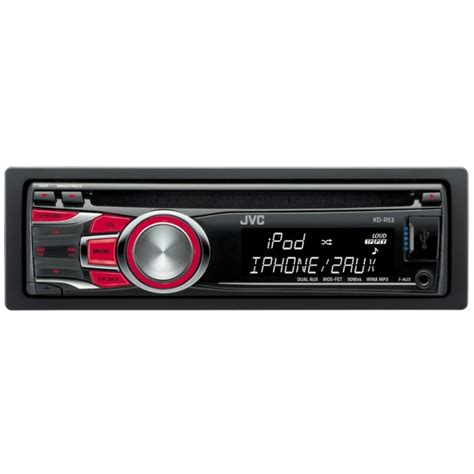 Auto Cd Player by Jvc Kdr53 Cd Player With Usb And Aux In 50wx4 Kd R53