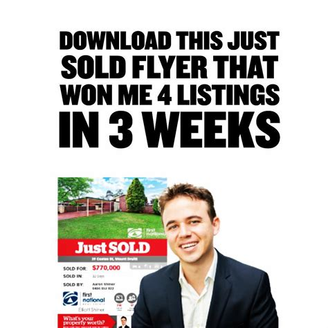 just sold flyers real estate gse bookbinder co