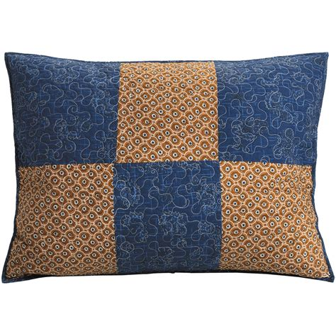 Patchwork Pillow Shams - c f enterprises azure patchwork pillow sham standard