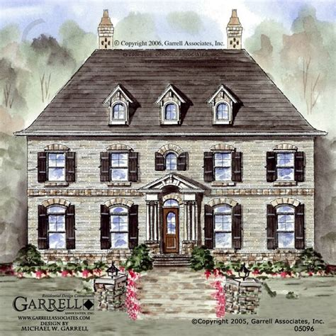 french manor house plans garrell associates inc cambridge manor house plan 05096