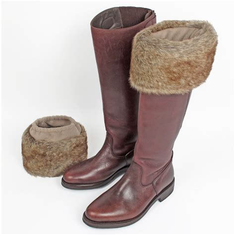 boot tops truffle faux fur boot toppers from curiosity interiors uk
