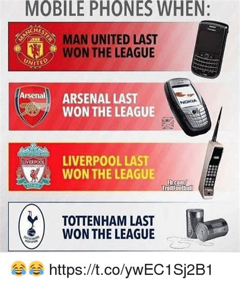 Mobile Memes - mobile phones when chest man united last won the league