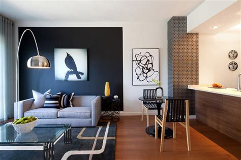 Accent Color by 20 Knockout Black Accent Wall In The Living Room Home Design Lover
