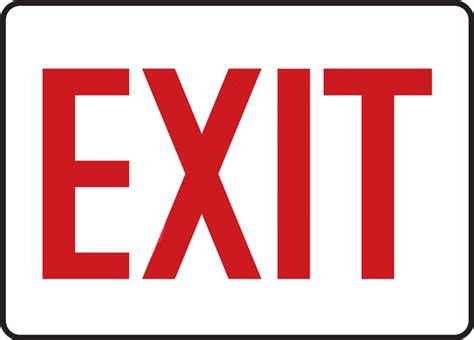 Exit A exit safety sign mext906