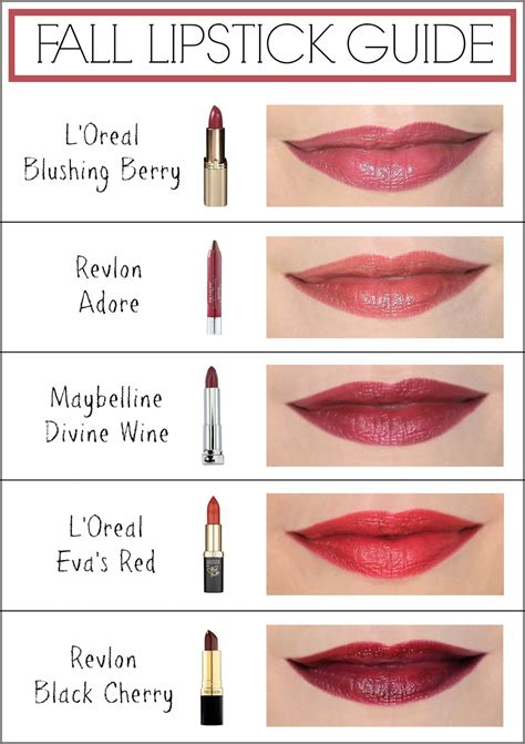 fall lipstick colors fall lipstick guide pincher fashion