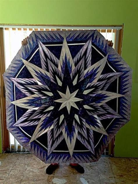 feathered snowflake tree skirt quiltworx com made by