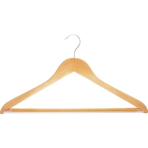 Wooden Hanger hdx wooden hanger in 5 pack 3328060 the home depot
