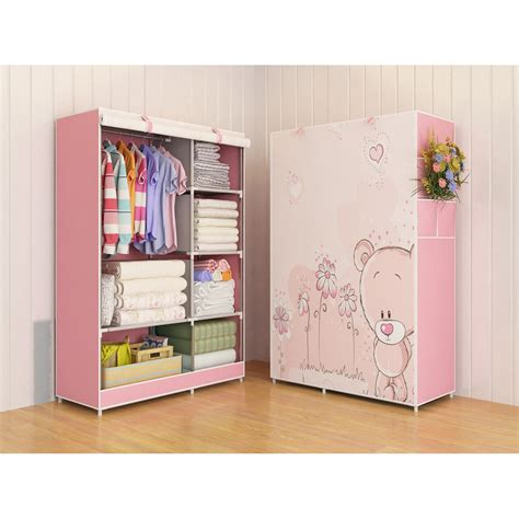 Multifunction Wardrobe With Cover Lemari Pakaian multifunction wardrobe cloth rack with cover lemari pakaian shopee indonesia