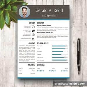 creative cv template cover letter word gerald a redd
