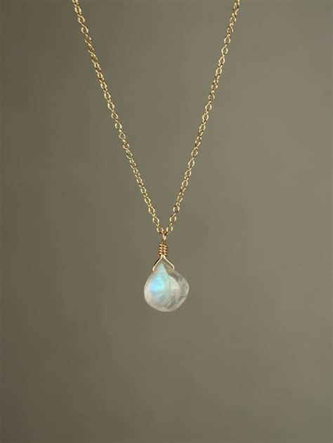 moonstone necklace rainbow moonstone necklace dainty and