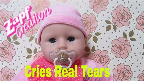 annabelle doll unboxing zapf creation baby annabell doll unboxing feeding cries