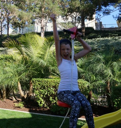 backyard zipline for kids how to build a backyard zipline oc mom blog