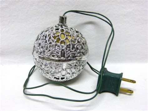 vintage electric chirping bird silver plastic ball