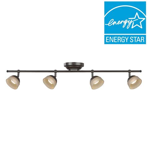 Fixed Track Lighting Fixtures Aspects 4 Light Rubbed Bronze Dimmable Fixed Track Lighting Kit Madf430030lrb The