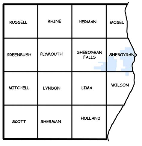 Fond Du Lac County Records Sheboygan County Towns