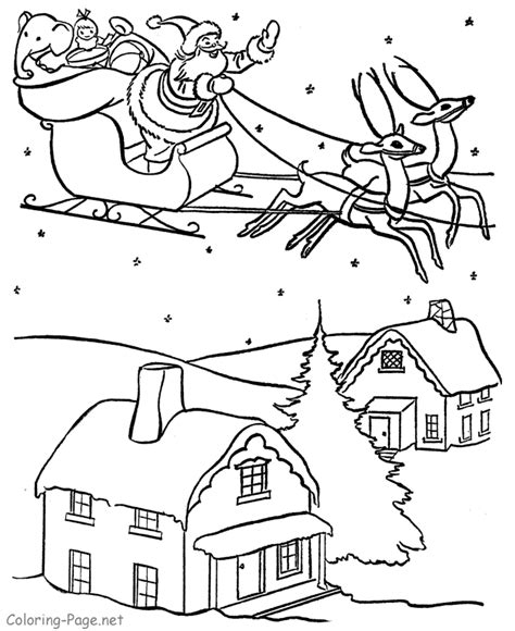 coloring pictures of santa s sleigh santa sleigh coloring pages az coloring pages