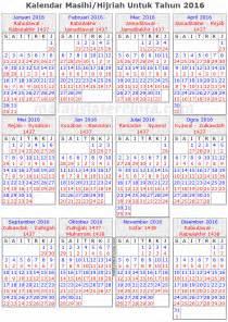 Brunei Kalender 2018 Waktu Sesuai Memancing Mengikut Kalendar Islam Tahun 2016