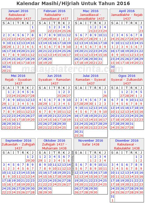 Calendar 2018 Malaysia Islam Waktu Sesuai Memancing Mengikut Kalendar Islam Tahun 2016