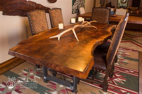 rustic wood dining tables live rustic table live edge table wood table littlebranch farm