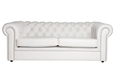 White Chesterfield by 50 Best White Leather Chesterfield Sofa White Leather
