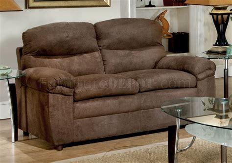 mocha microfiber sofa 1016 sofa in mocha microfiber w options