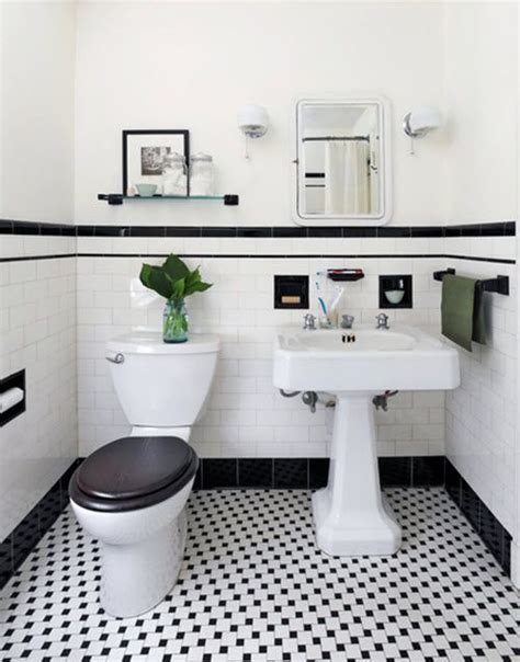 black and white bathroom tile ideas best 20 vintage bathrooms ideas on pinterest