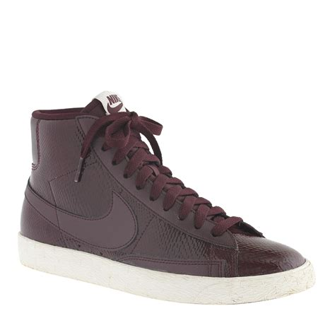 nike retro womens sneakers j crew s nike blazer mid vintage sneakers in purple