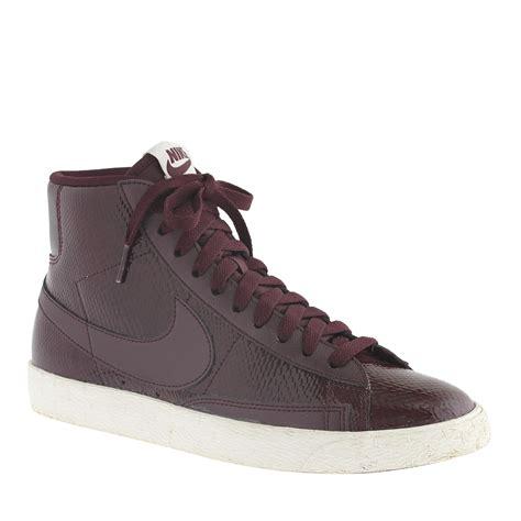 lyst j crew s nike blazer mid vintage sneakers in purple