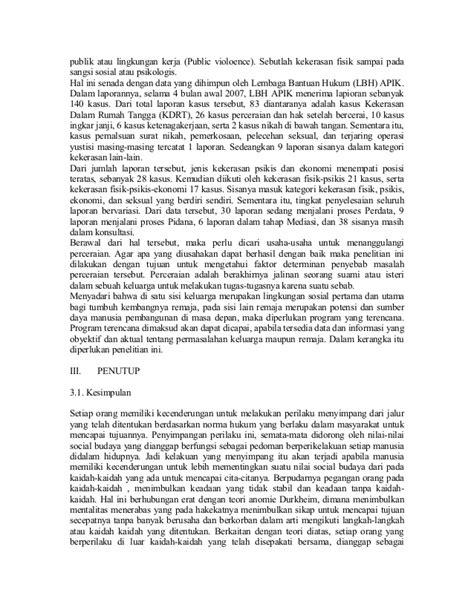 contoh makalah sosiologi