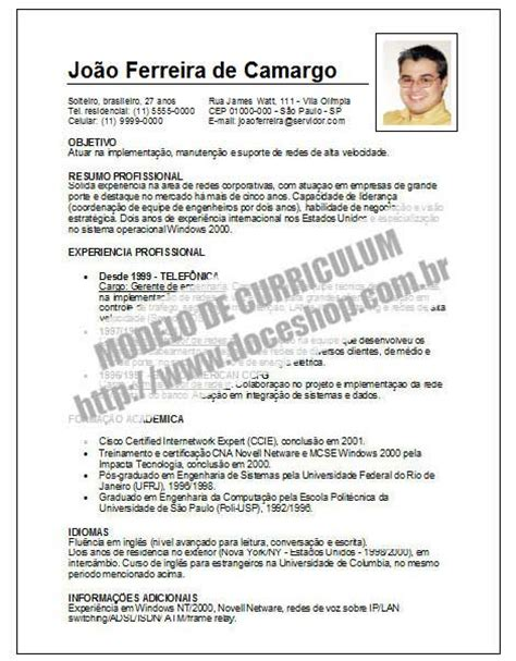 Modelo Curriculum Ue Op 231 227 O De Modelo De Curriculum Simples Foto Para Diferenciar Raqinfo