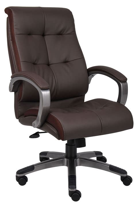 Office Chairs by B8771p Bn High Back Brown Leatherplus Executive