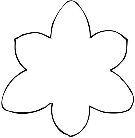 flower templates printable printable flower patterns cliparts co