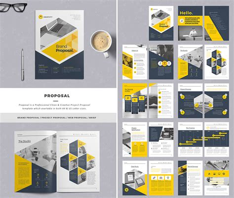 20 Best Business Proposal Templates For New Client Projects Creative Graphic Design Layout Templates