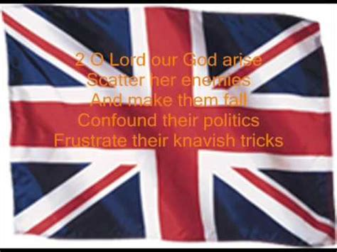 testo god save the anthem god save the with lyrics