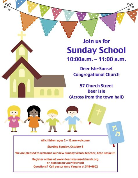 Sunday School Flyer Template Sunday School Invitation Flyer Google Search Childrens Church Pinterest Sunday School