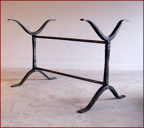 Wrought iron table legs home design ideas